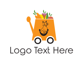Supermarket - Shopping Cart logo design