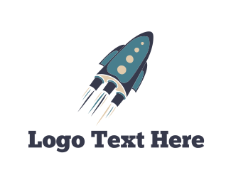 Success - Blue Rocket logo design