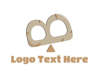 Prehistoric - Seesaw Letter B logo design