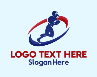 Football - American Football Player logo design