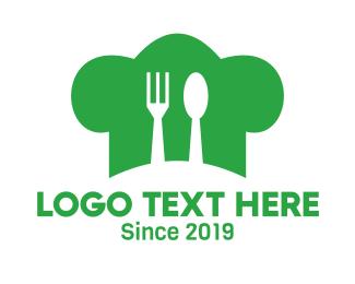 Cooking Show - Green Hat Kitchen logo design