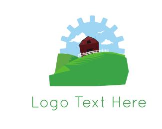 Fence - Gear Farm logo design