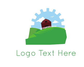 Livestock - Gear Farm logo design