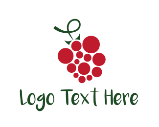Berry - Red Grape logo design