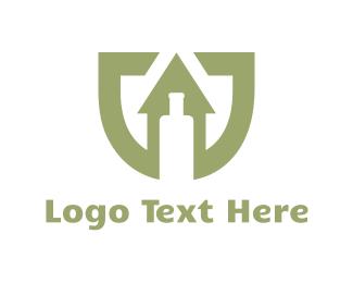 Bottle - Up Bottle logo design