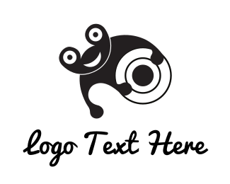 Frog - Cheerful Black Frog logo design