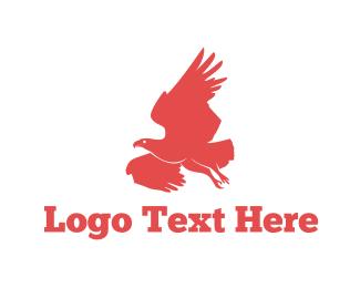 Falcon - Red Falcon logo design