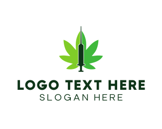 Syringe - Cannabis Medic  logo design