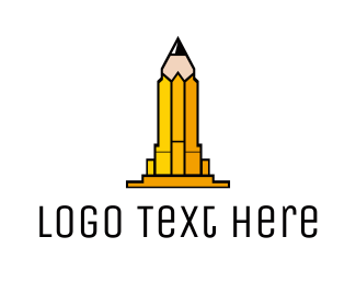 Copywriter - Yellow Pencil Tower logo design