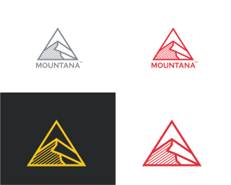 Minimal - Triangle Mountain logo design