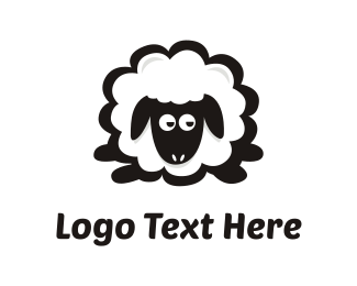 Farm Animal - Sheep Cartoon logo design