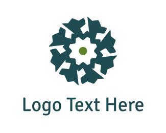 Secure - Dog Flower logo design