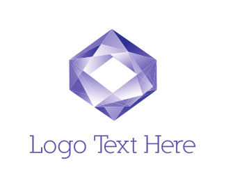 Expensive - Purple Diamond logo design