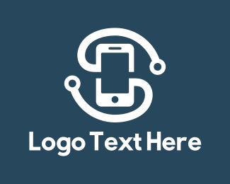 Phone - Mobile & Headphones logo design