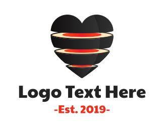 Tuna - Sushi Heart logo design