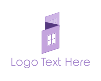 House Painter - Purple House logo design
