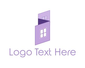 House Painter - Purple House logo design