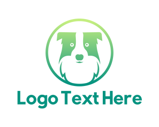 Pet Grooming - Green Dog Badge  logo design