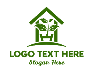 Stem - Greenhouse Plant logo design