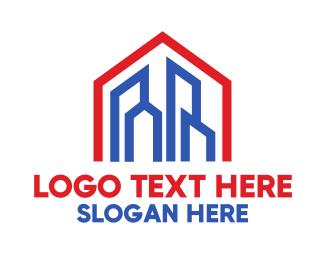 Home - Red Blue Modern City logo design