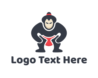 Fighter - Sumo Wrestler logo design