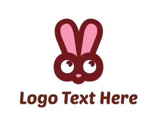 Lovely - Pink Bunny logo design
