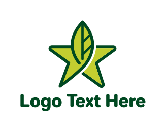 Leaf Star logo design