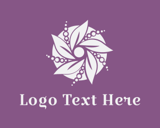 Bouquet - Pearl Flower logo design