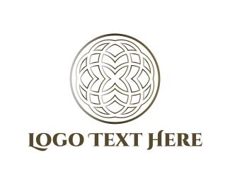 Silver - Floral Circle logo design