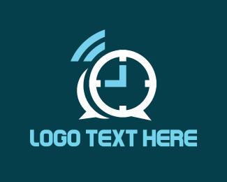 Chat - Chat Alarm logo design