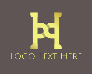 Monogram - Yellow Letter H logo design