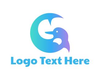 Dolphin - Blue Dolphin G logo design