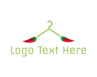 Closet - Chili Hanger logo design