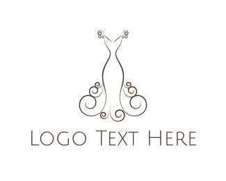 Wedding - Elegant Dress logo design
