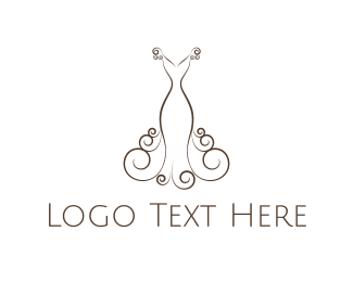Wedding Planner - Elegant Dress logo design