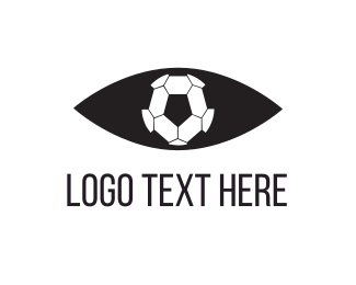 Eye - Soccer Eye logo design