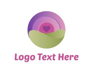 Planet - Heart & Circle logo design