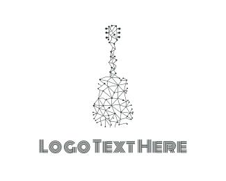 Guitar - Wire Guitar logo design