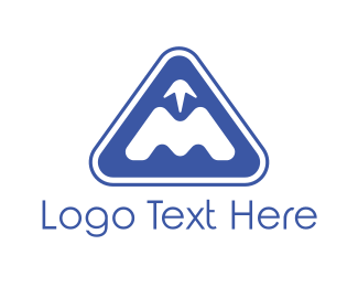 Winter - Triangle Mountain logo design