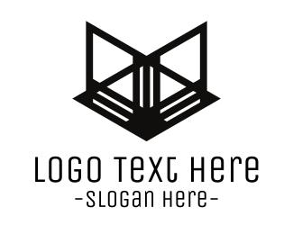 Abstract Black Fox Logo
