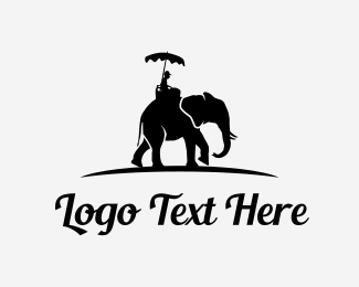 Tourism - Elephant Tour logo design