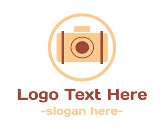 Videography - Pink Vintage Camera logo design