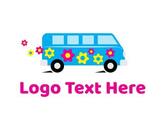 Rv - Hippie Van logo design