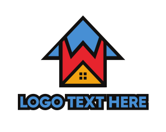 Day Care - Colorful W House logo design