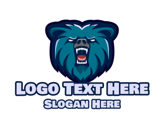 Nfl - Wild Blue Bear logo design