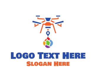 Drone - Colorful Drone logo design
