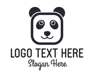 Panda - Square Panda logo design