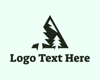 Hiking - Pine Mountain logo design