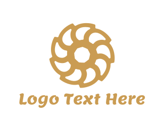 Fudge - Brown Flower logo design