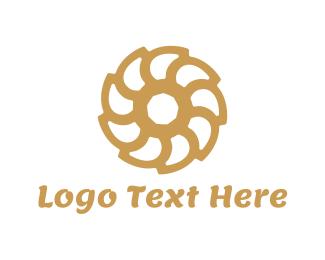 Woodworking - Brown Flower logo design